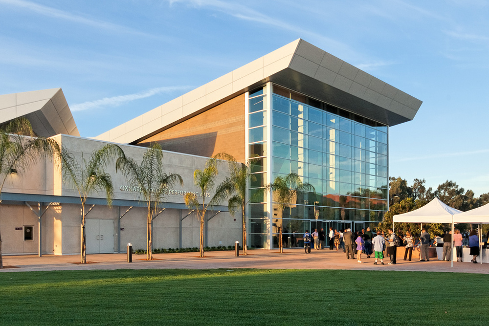 Outside view of Oxnard College Theater