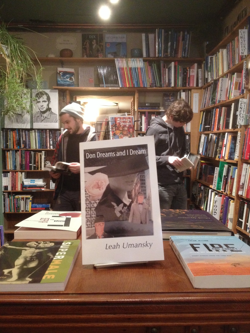 Don Dreams at ARGO Bookshop in Montreal