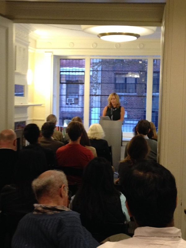 Reading for NYU's Creative Writing Department at The Lillian Vernon House - October 10, 2014