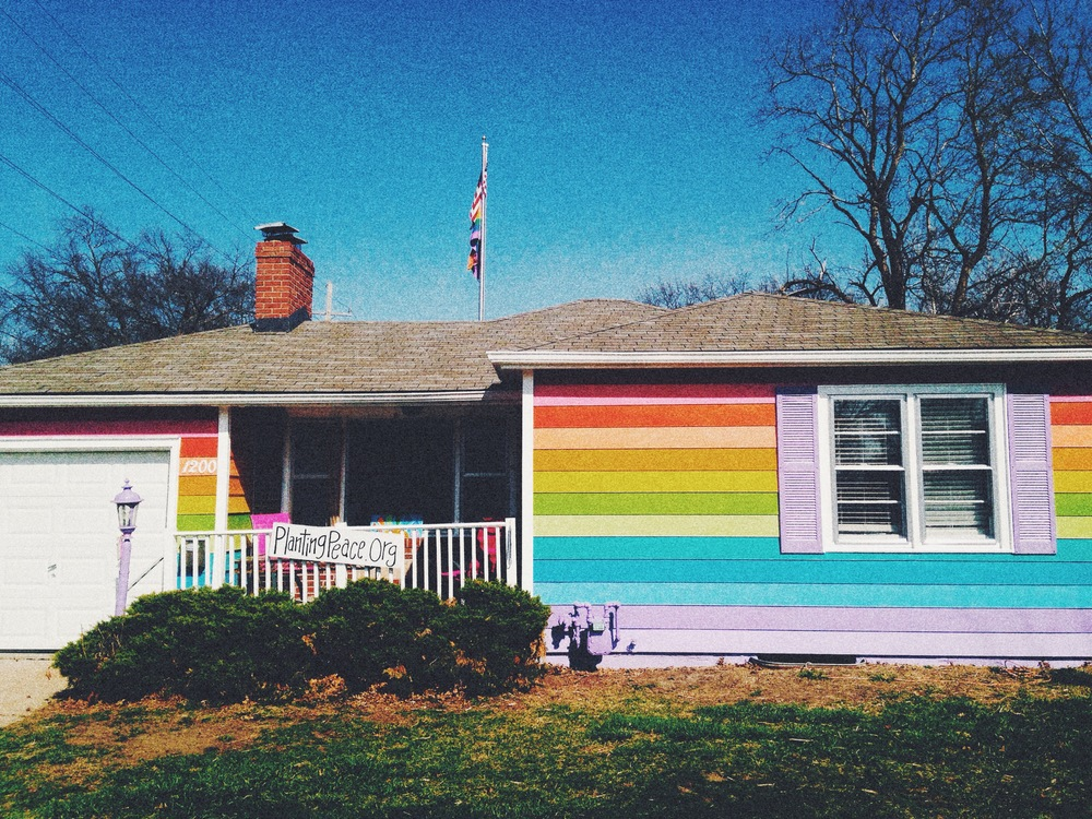 The Equality house, sits across the street from Westboro Baptist Church in effort to cure Hate with Love.