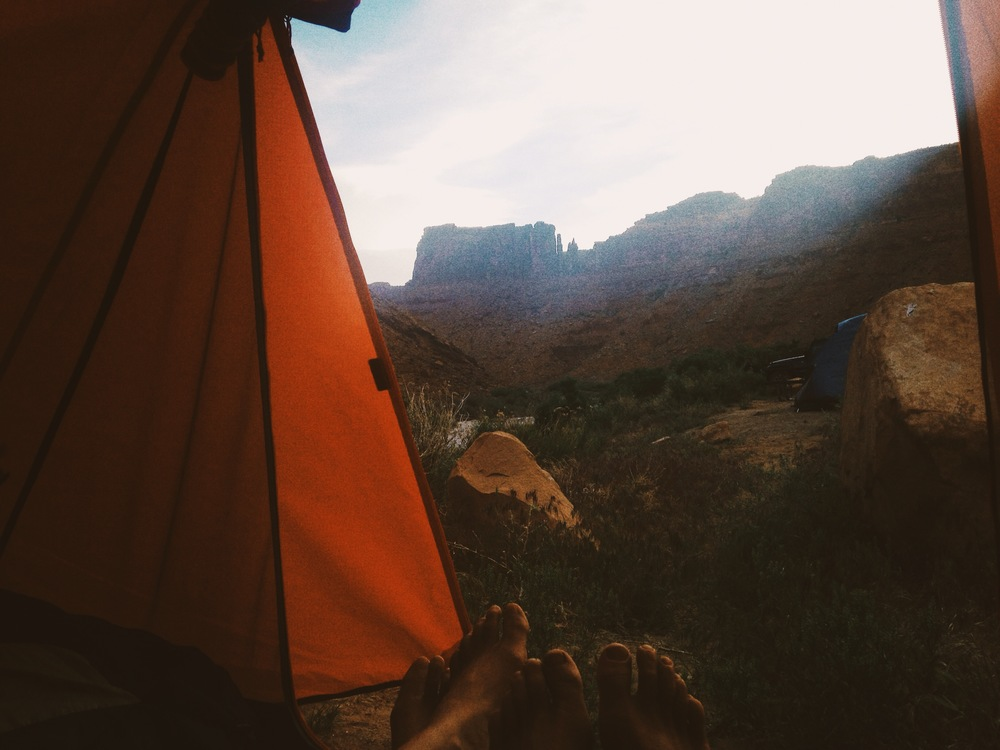 camping on the colorado river cc: kristen