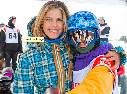 Super star Torah Bright sharing good vibes with all fellow shredders