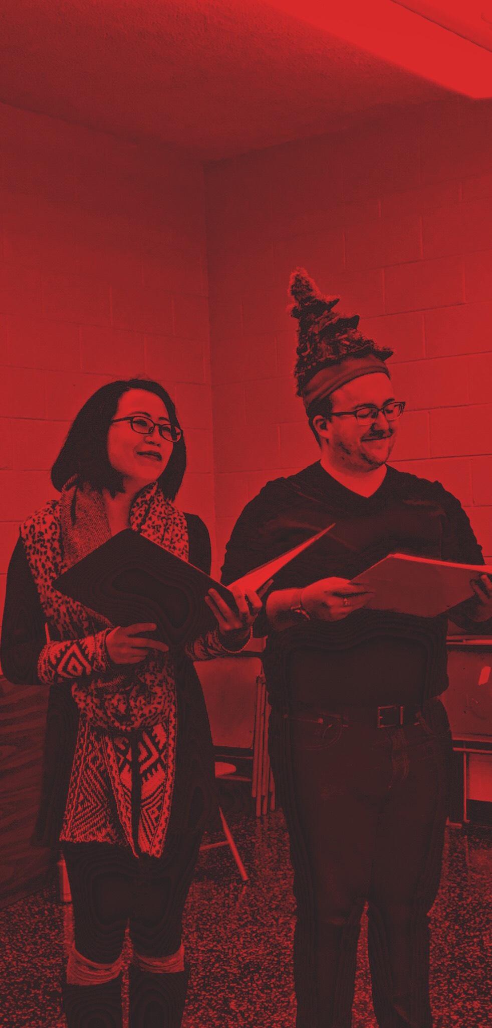 Kelsey Wang & Ian Michael James in rehearsal