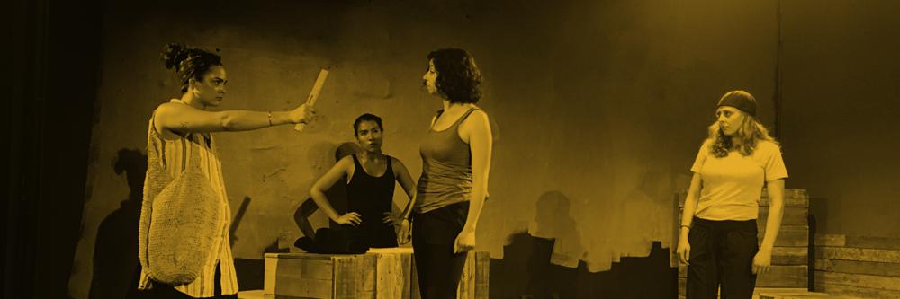 Nicole Velasco Lockard, Valeria Rosero, Gaby Moldovan, and Ali-Janes Paulsen in rehearsal