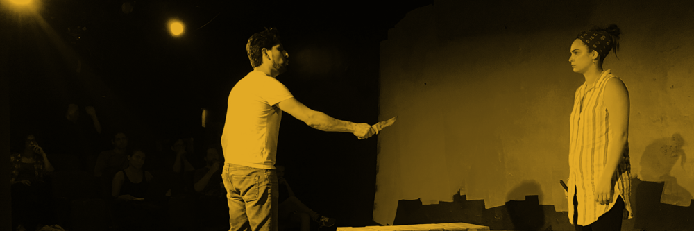 Victor Maraña and Nicole Velasco Lockard in rehearsal