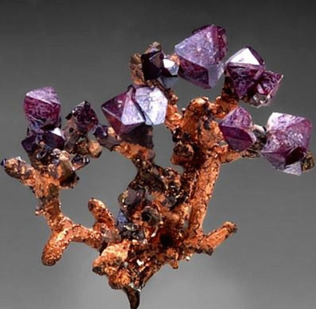 This here beauty is Cuprite and Copper, for your crystal lovers out there.