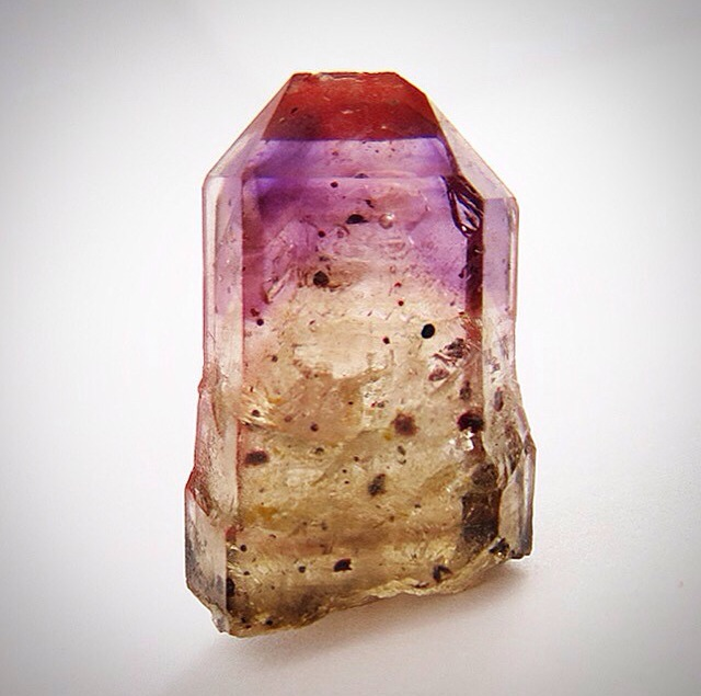 Smoky Quartz with Amethyst tip -- SO NICE.