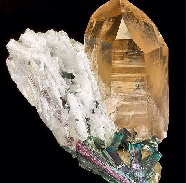 Citrine, Quartz, and Tourmaline from @beautifulmoments222