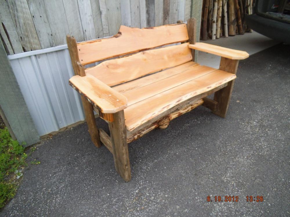 Rustic Red Alder Garden Bench