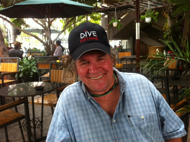 After a days diving in Viet Nam with a few rice beers.