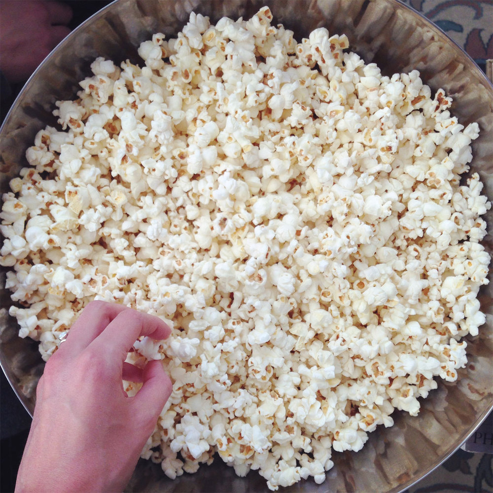 Popcorn! Pop your own over the stove- it sounds really fun, it tastes delicious, and you control the toppings. Lightly salt it or pop it in coconut oil to give a hint of sweetness.