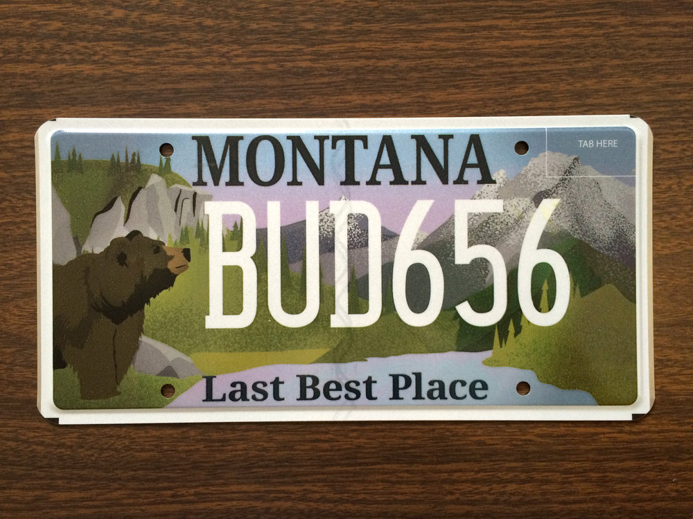 Montana License Plate, Graphic Design, and Illustration by Nikki Simon in Helena, Montana. Save the Smith River, MEIC.