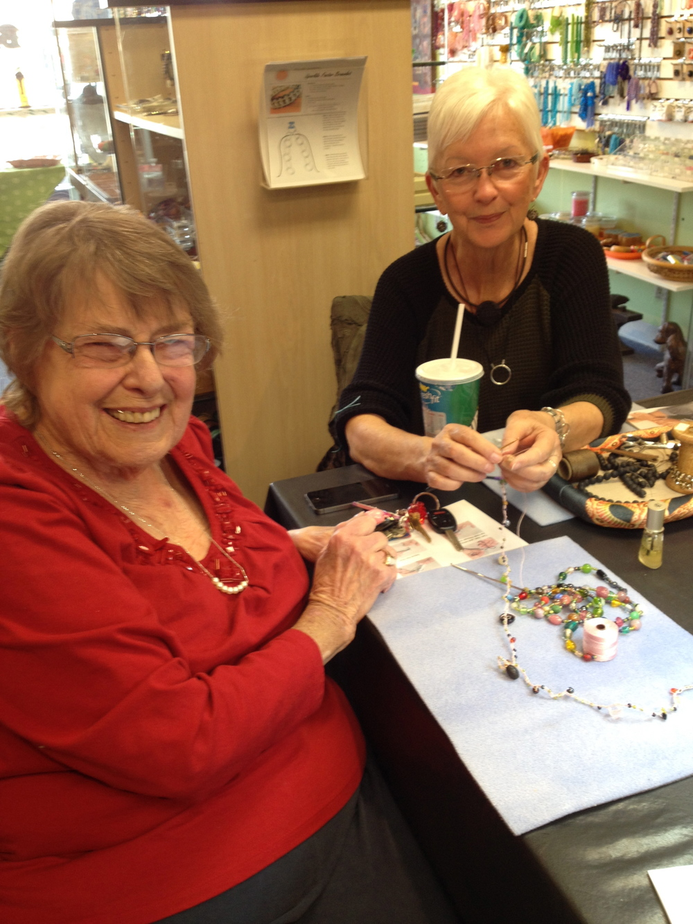 Marilyn Stein-Drury and Helen Taylor Bead Crocheting