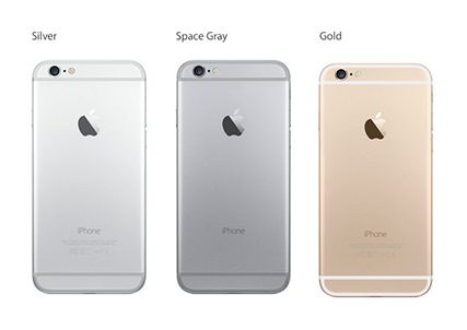 Both iPhones come in three color choices: silver, space gray, and gold