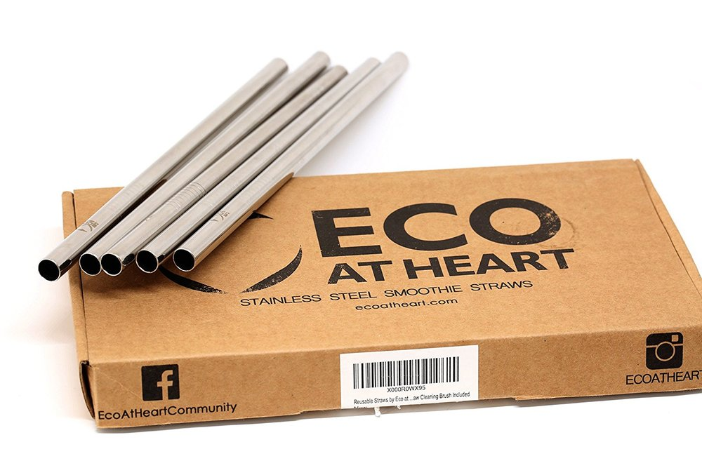 Stainless Straws - Reusable, elegant and fun. By Eco at Heart