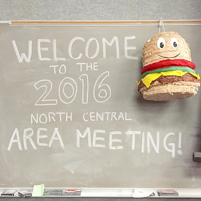 yoyoyo help me think of a punny name for this lil hamburger piñata #iftsanorthcentral2016
