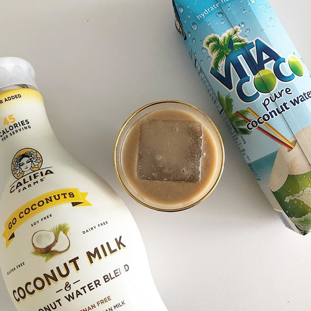 Friday Tip: If you want a little sweetness + bonus hydration in your iced coffee, add a splash of coconut water instead of sweetener. 🥥 ☀️ What are your favorite summer drinks?  #wellnessmeetsbeauty