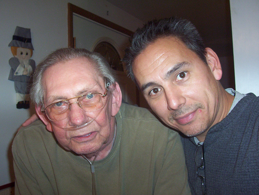 My father and I, circa September 2007