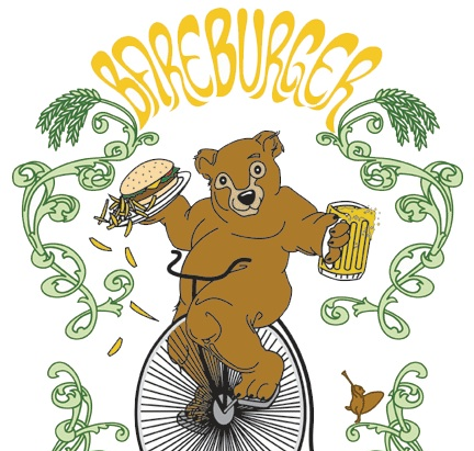 Bareburger  logo (also, check out that chipmunk playing a trumpet)