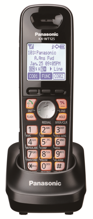 Wt-125 cordless can be twinned to your desk phone for greater mobility in the office!
