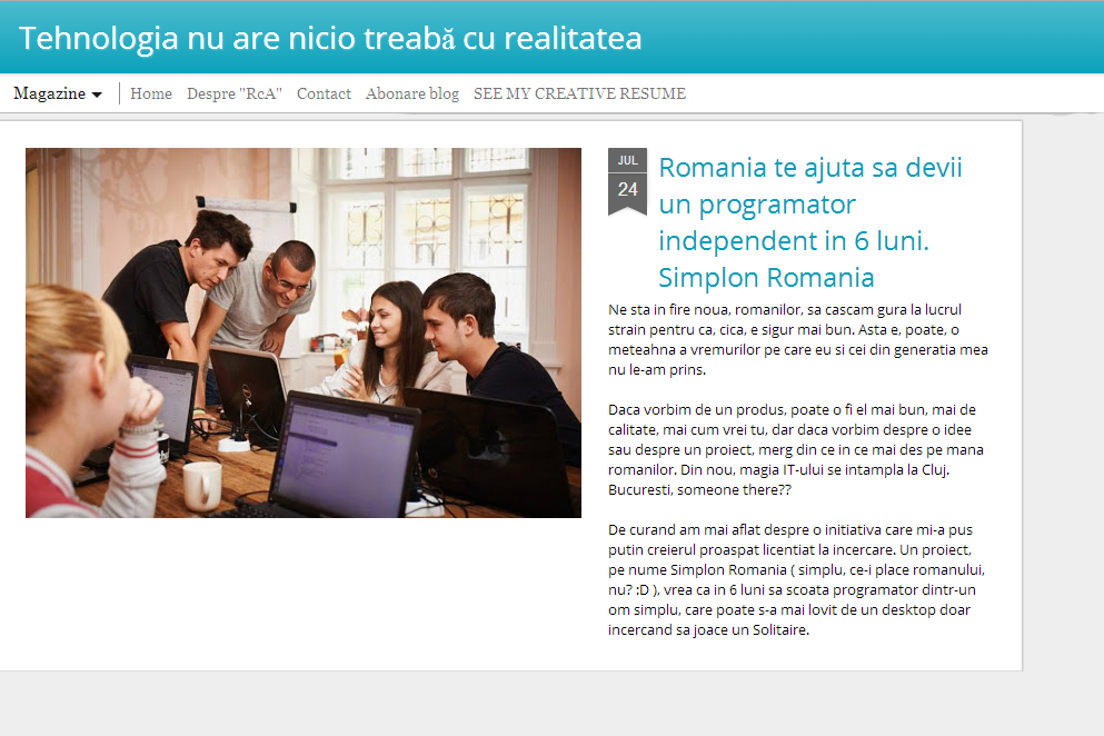 Andrei Radu - Romania te ajuta sa devii un programator independent in 6 luni. Simplon Romania