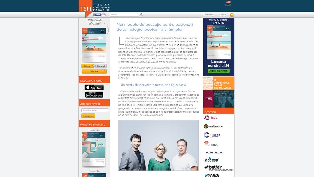 Today Software Magazine - Noi modele de educatie pentr pasionatii de tehnologie