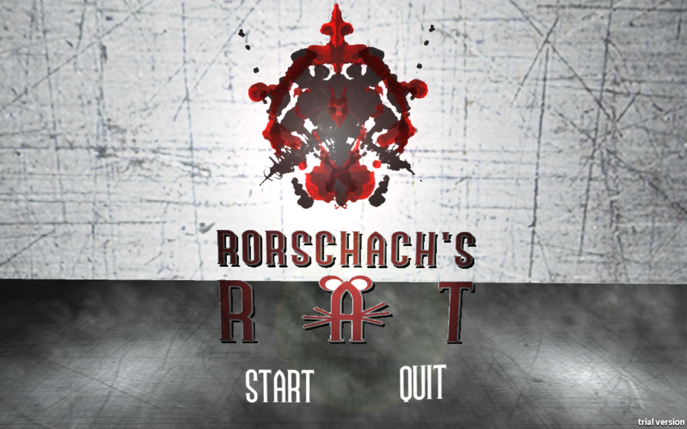 Rorschach's Rat Title Screen