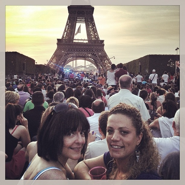 Great night with my French friend Michele in France Independence Day 2013 :-) wine, food and fireworks :-) just awesome :-) (at Tour Eiffel)