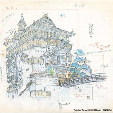 13 MAY - 31 AUG Studio Ghibli Layout Designs: Understanding the Secrets of Takahata and Miyazaki Animation exhibition