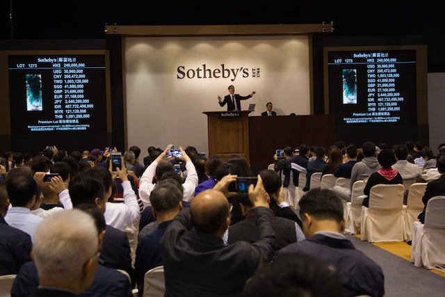 A Sotheby's auction