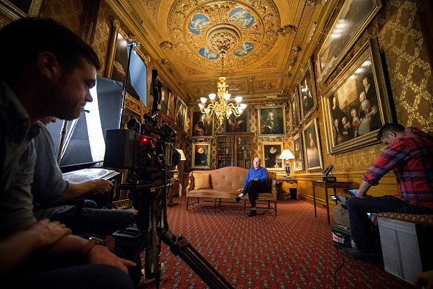 Sotheby's is also creating its own films about museums, starting with a 13-part series about Chatsworth House and the Duke Of Devonshire's collection. Photo courtesy of Ben Page