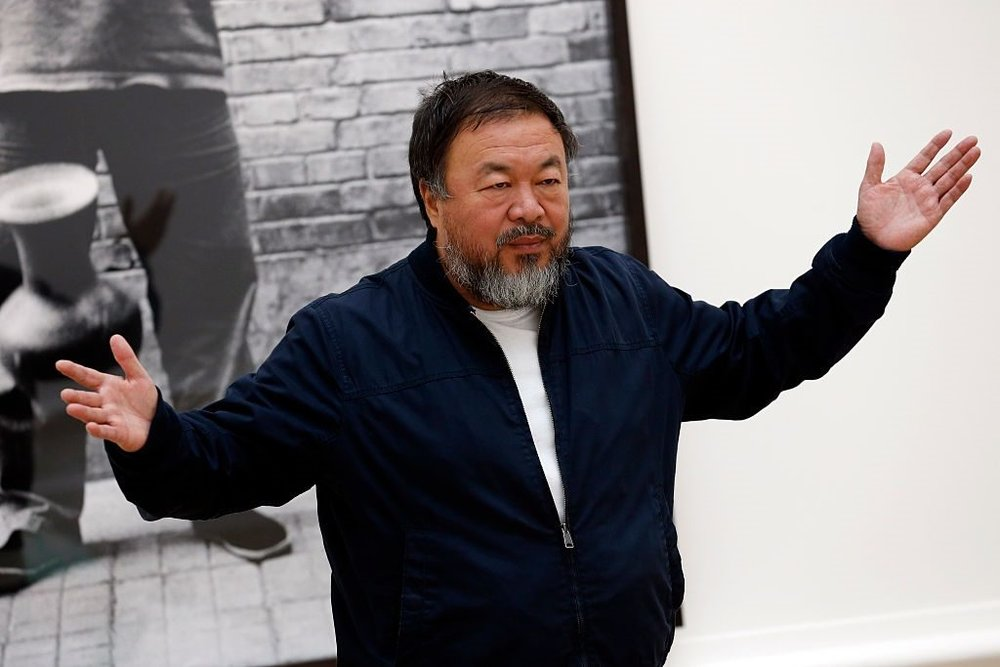 Ai Weiwei at his exhibition in 2015 at London's Royal Academy of Art. Photo Alex B. Huckle/Getty Images.