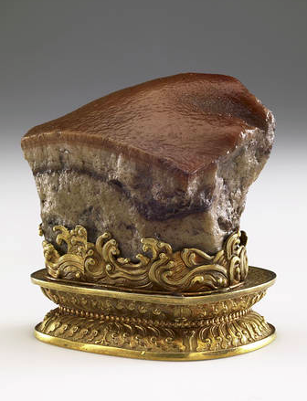 Meat-shaped stone, China, Qing dynasty (1644?1911). PHOTO: NATIONAL PALACE MUSEUM