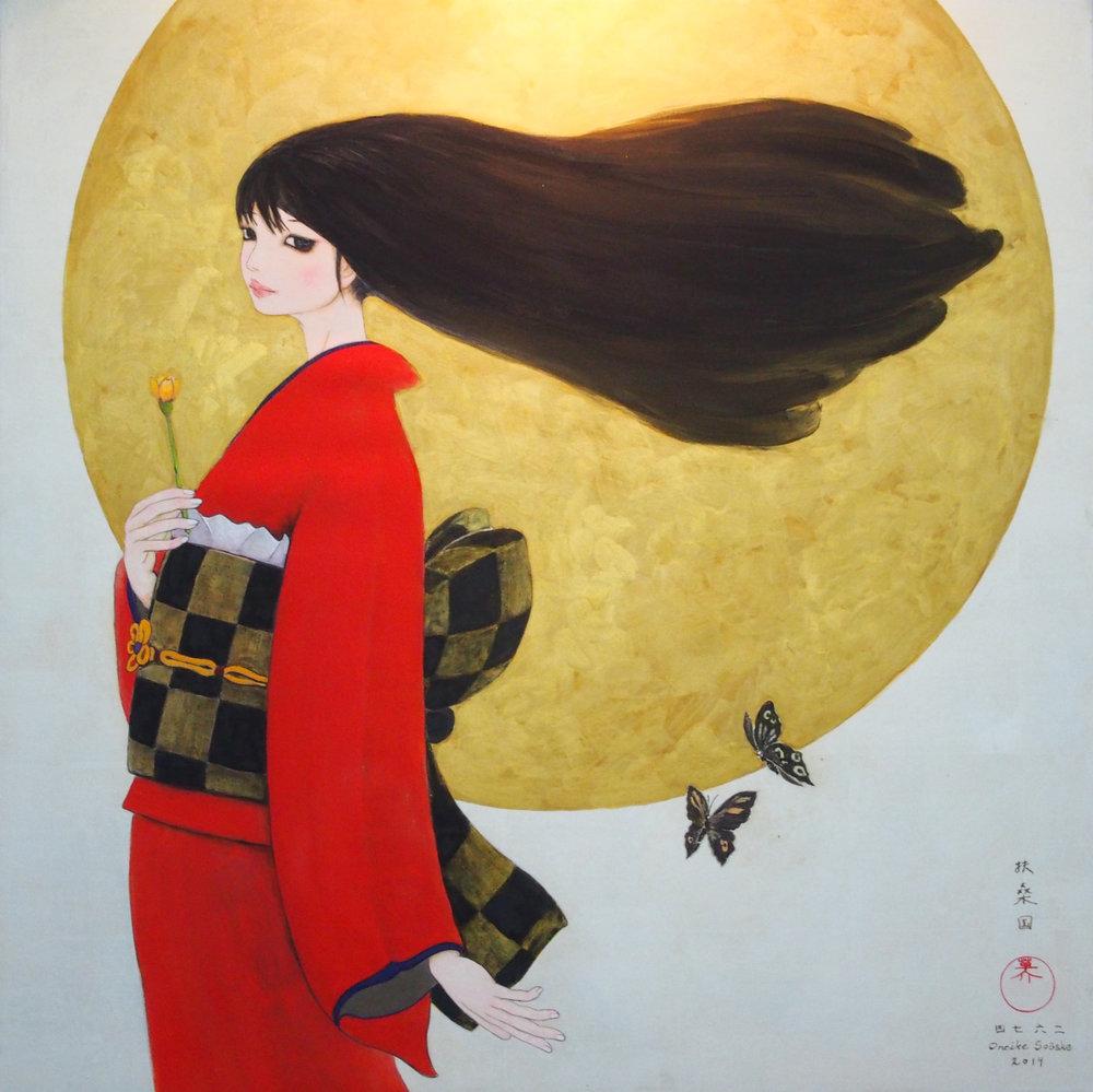 """Image: """"Huta Hihiru ver.2014 - 2 Butterflies"""" by Souske Onoike, Souske Art Projects, Japan, Room 4123"""