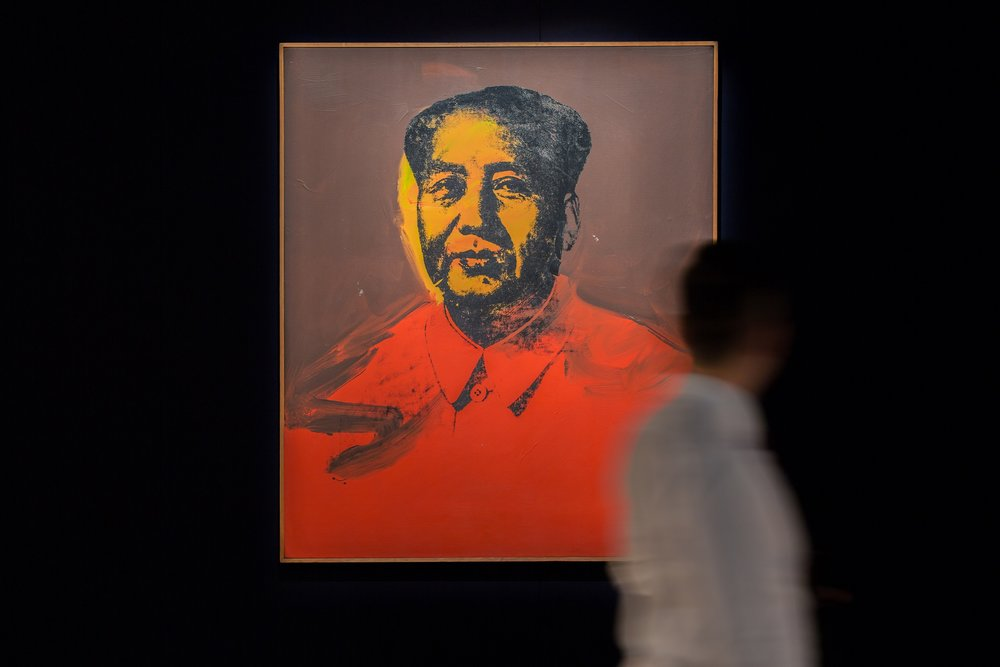 Image: Andy Warhol, Mao, 1973, acrylic and silkscreen ink on canvas, 127 x 106.6cm Sold for an Astounding HK$98.5Million/US$12.6Million to an Asian Collector at Modern and Contemporary Art Evening Sale