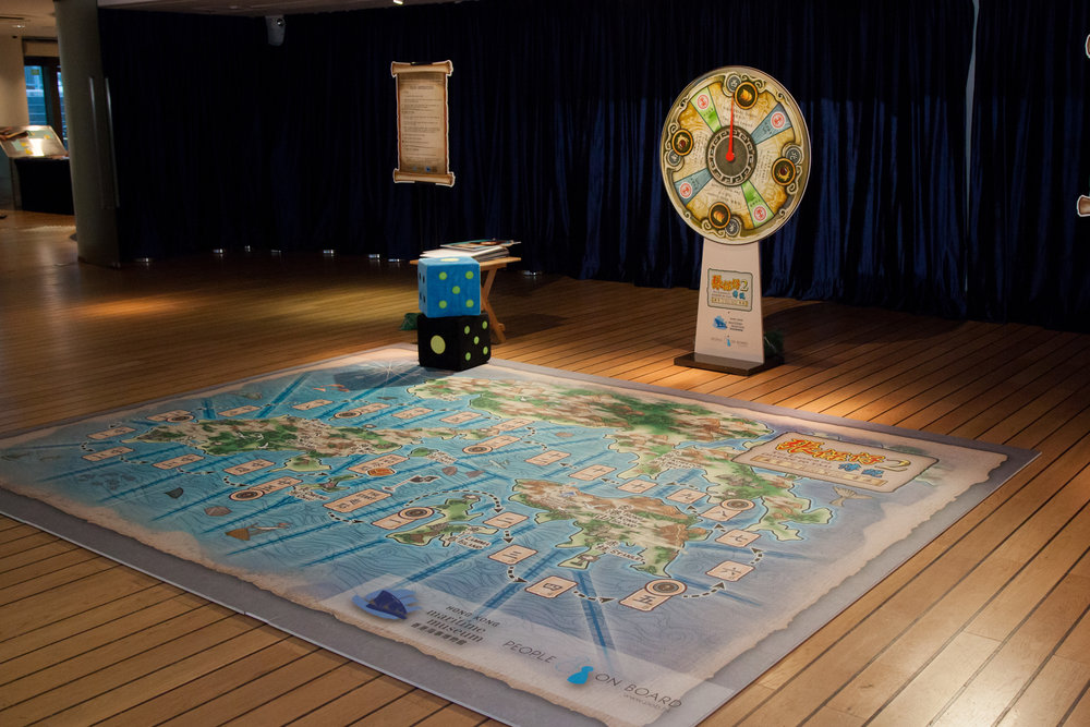 "A giant interactive board game ""The legend of Cheung Po Tsai""  © Hong Kong Maritime Museum"