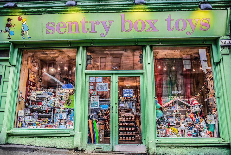 The Sentry Box is a traditional toy shop