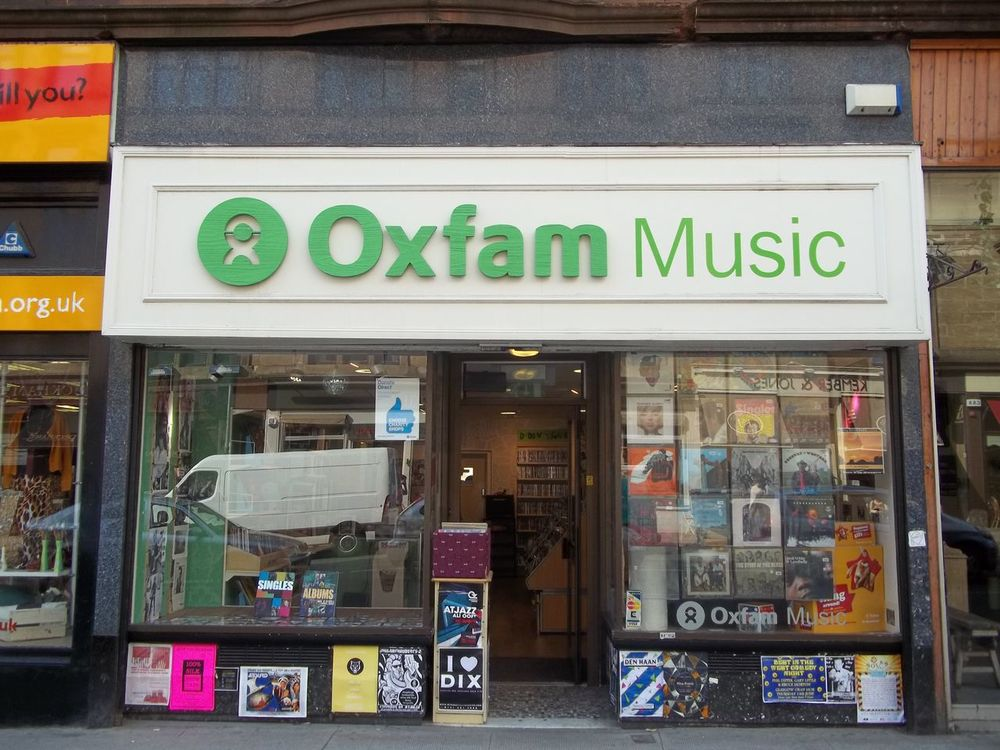 Oxfam's creative window displays is one of its best features