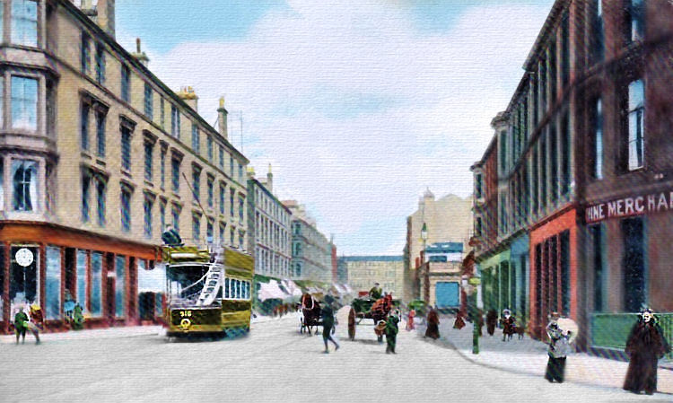 Byres Road street scene at the turn of the 19th century. Used with permission from Scotcities