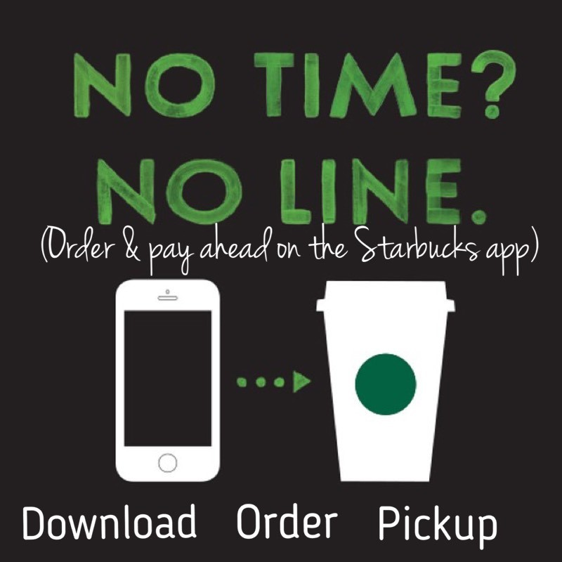 Starbucks has its own app for faster service