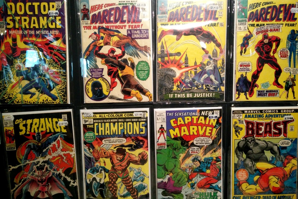 Some of the comics available in City Centre Comics