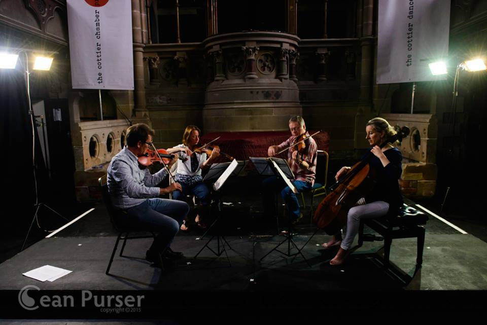 The Glasgow String Quartet is performing on 6th June in the University of Glasgow Memorial Chapel. Photo by Sean Purser/The Cottier Chamber Project.