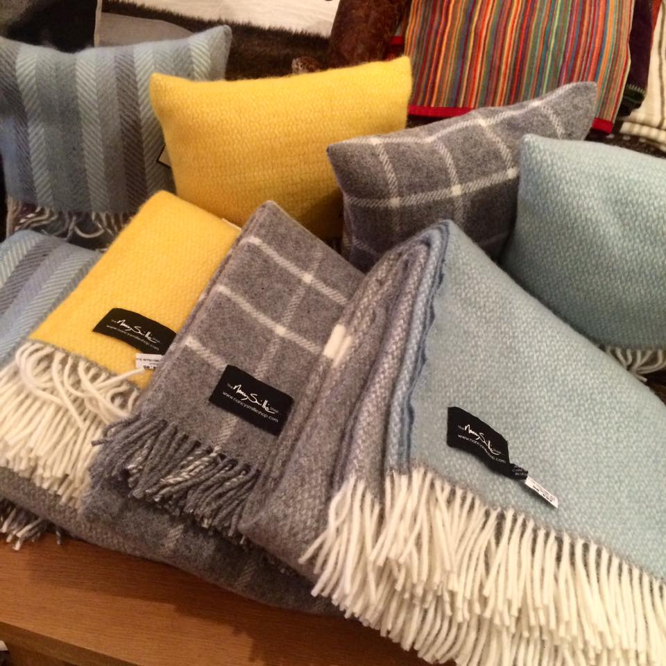 Nancy Smillie's woollen throws and pillows help the Glaswegians keep snug in the winter.