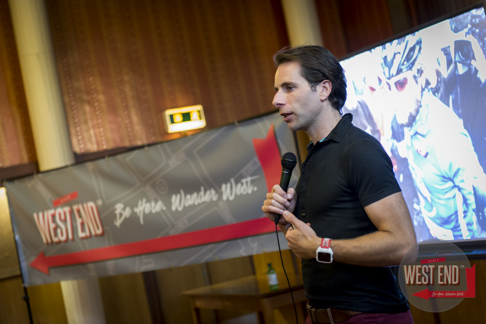 Mark Beaumont in Hillhead library, 17 September