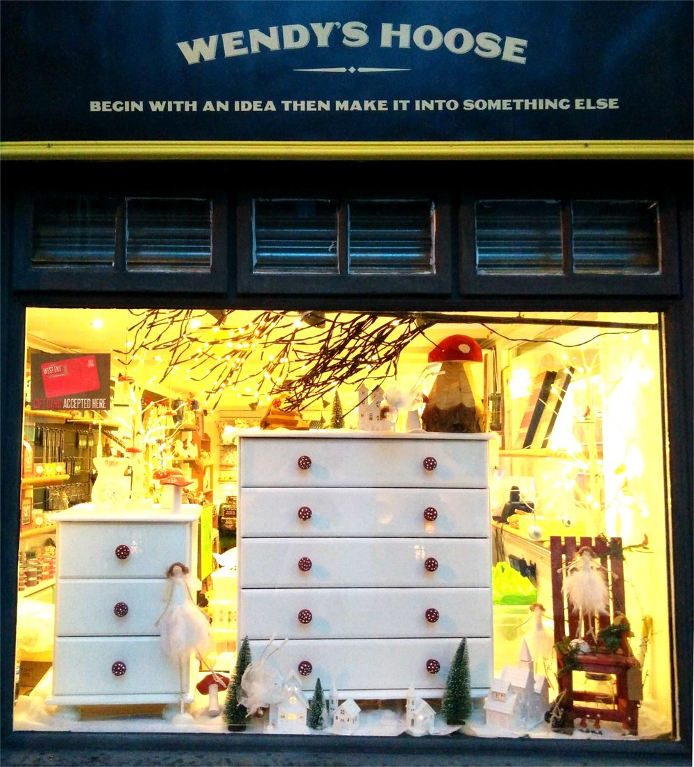 Starting next year, Wendy's Hoose will have a new window display every month, following a theme.
