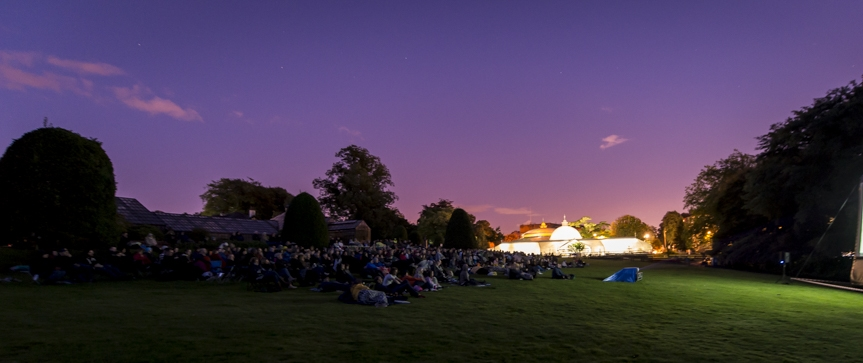 Outdoor cinema in the botanic gardens