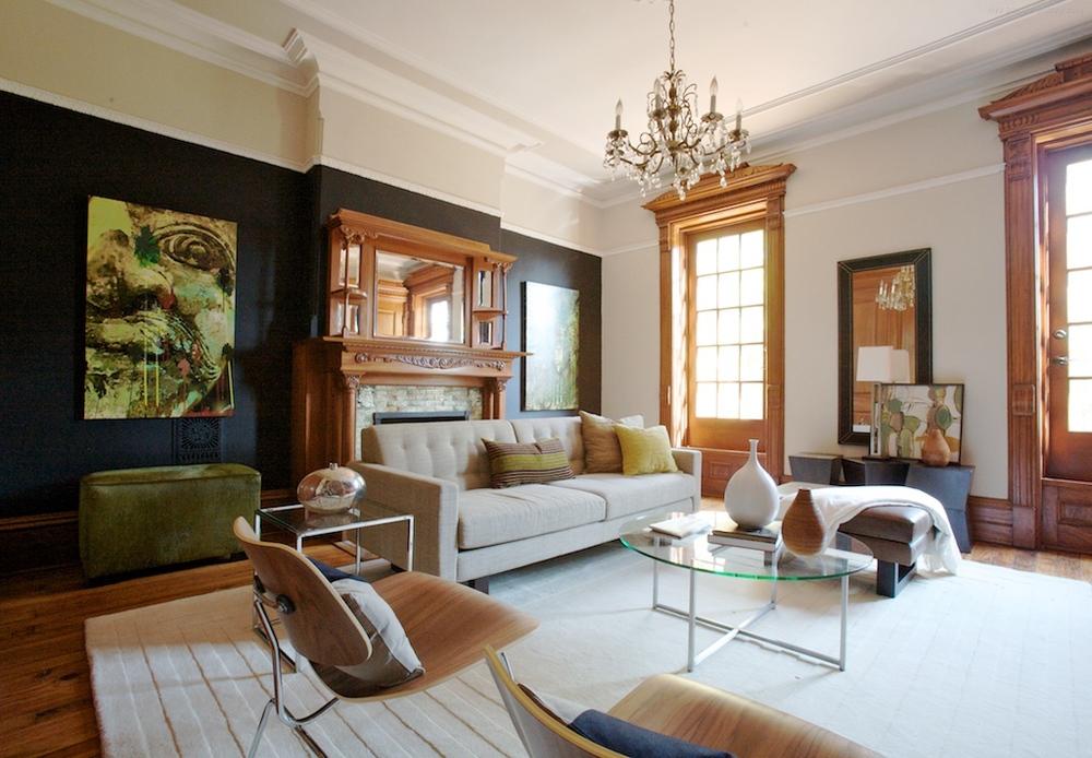Brooklyn brownstone interior design project modern living