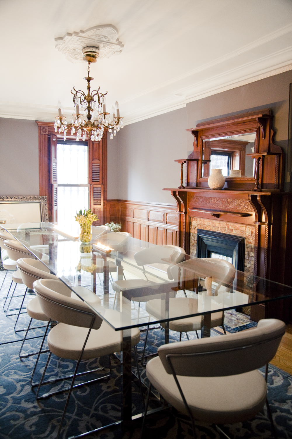 Brooklyn brownstone interior design project  modern dining room decor. Bed Stuy   I S H K A D E S I G N S