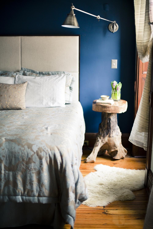 """Brooklyn brownstone interior design project: master bedroom decor"""