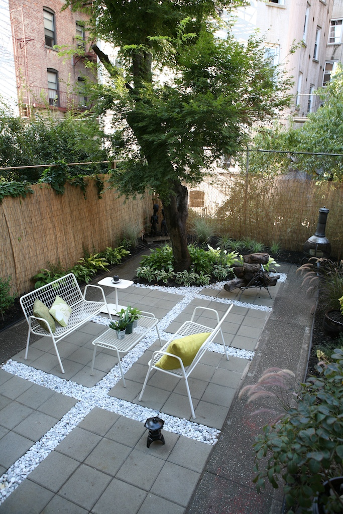 """Brooklyn landscape project with stone paver design"""